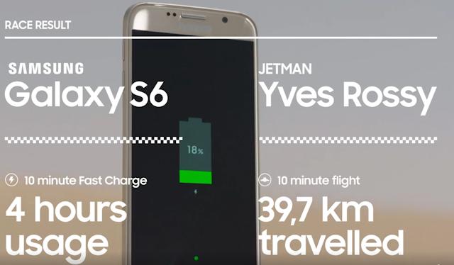 Esito finale Jetman e Galaxy S6 edge