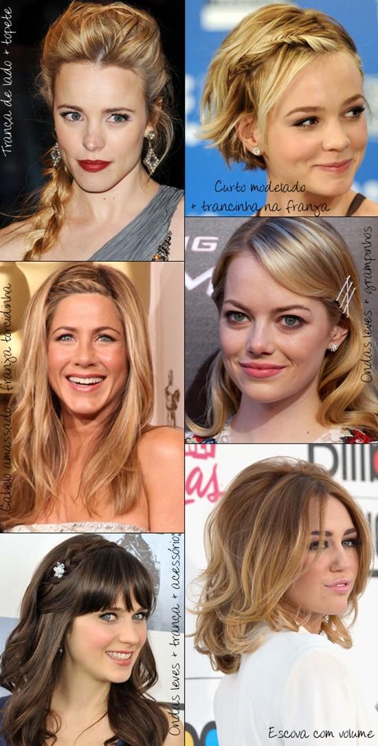 penteados lindos para a passagem de ano