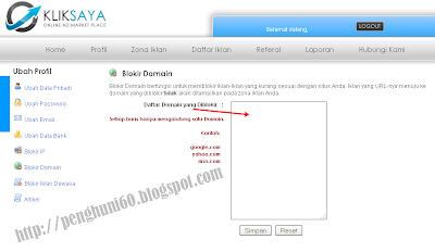 Fitur Blokir Domain