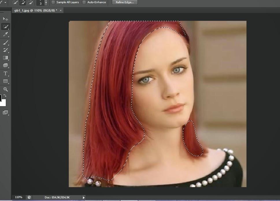 Merubah Warna Rambut Dengan Photoshop Cs 6   Zona Tutorial