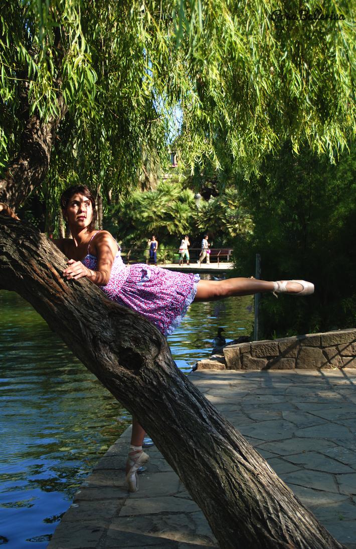 fotografía de ballet clásico en exteriores barcelona