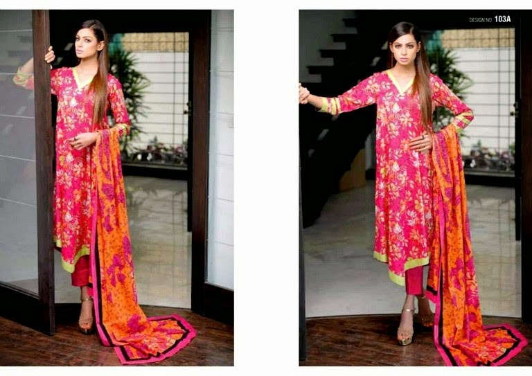 Classic Rose Lawn Summer Collection 2014