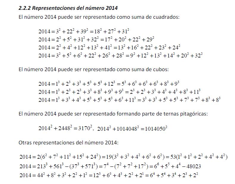 Números y hoja de cálculo: Propiedades del 2014 (colaboración de ...