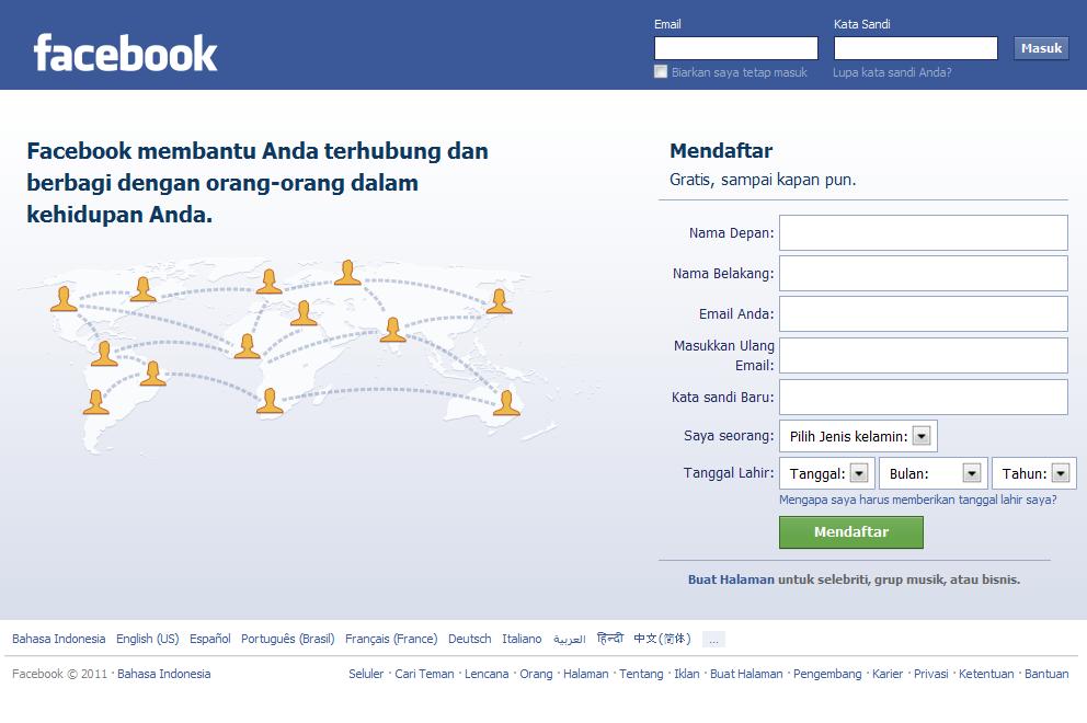 Cara Membuat Facebook Yang Benar