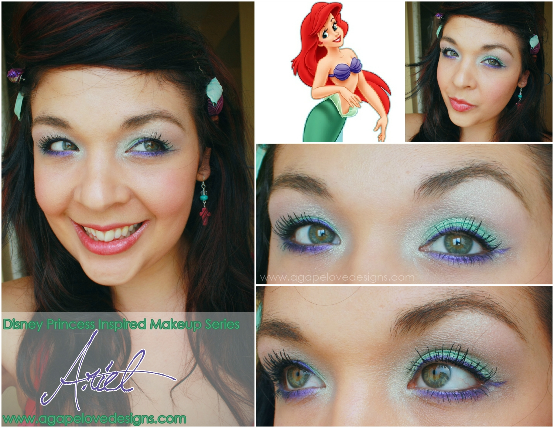 Agape Love Designs: The Little Mermaid, Ariel, Inspired Makeup