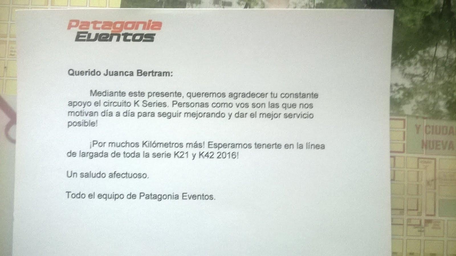 Reconocimiento de Patagonia Eventos.