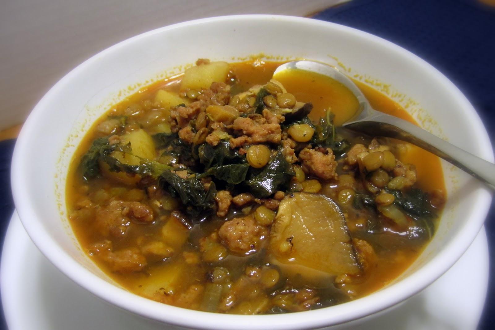 Gourmified: Sausage, Lentil & Kale Soup