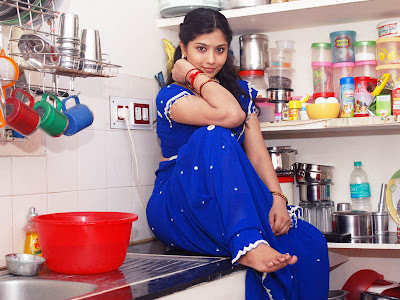 liya sree new blue saree photo gallery