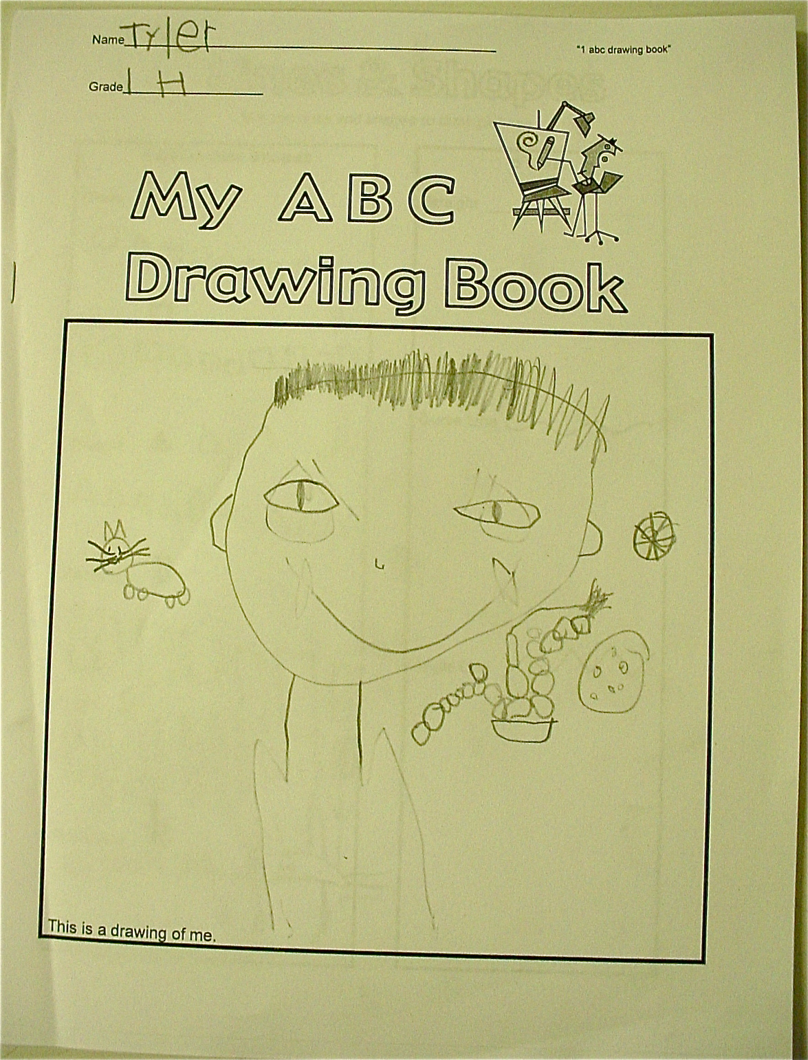 Abc school art art subs on the first day of school we complete the cover page each page is alphabetized with a letter the picture we are drawing begins with madrichimfo Choice Image