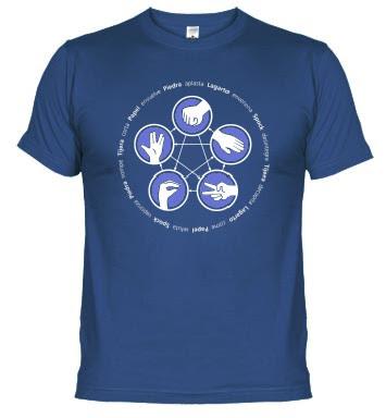 Camiseta Piedra, Papel, tijera, lagarto, Spook