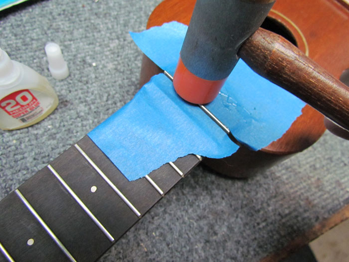 Installing Frets on the Gretsch Ukulele Crawls Backward (When Alarmed)