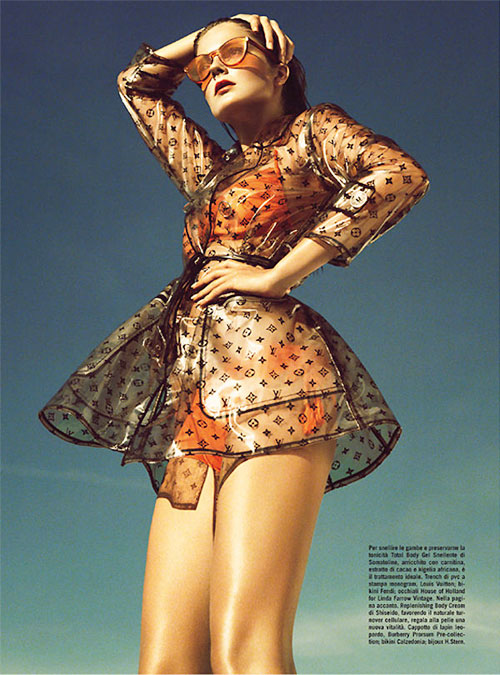 Eniko Mihalik glamorous on  Vogue Magazine