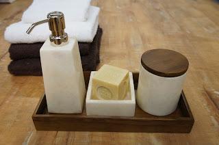 大理石 ホワイトオニキスシリーズ 洗面雑貨