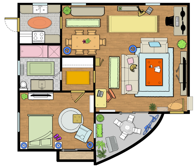 New Girl Apartment Interior