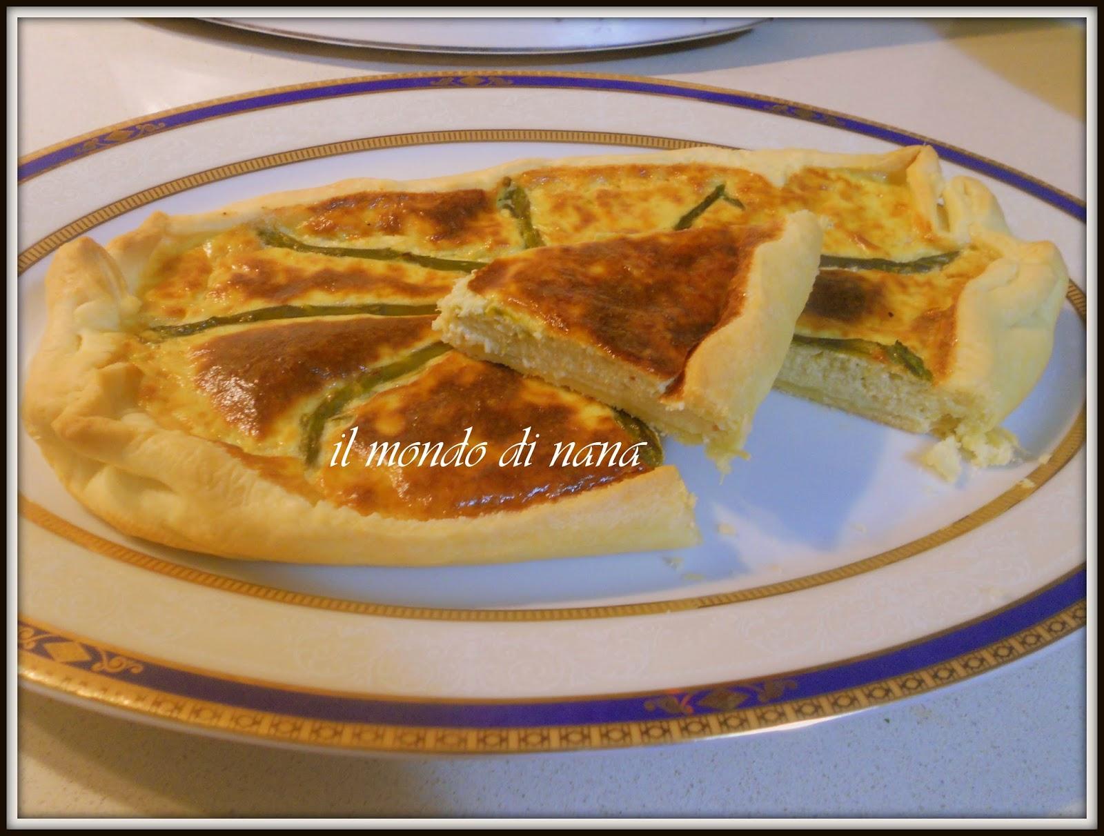 Il mondo di nana quiche con gli asparagi bimby - Torte salate decorate ...