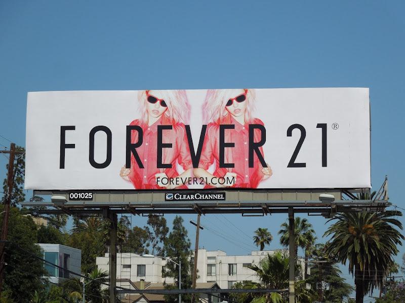 Forever 21 Charlotte Free billboard