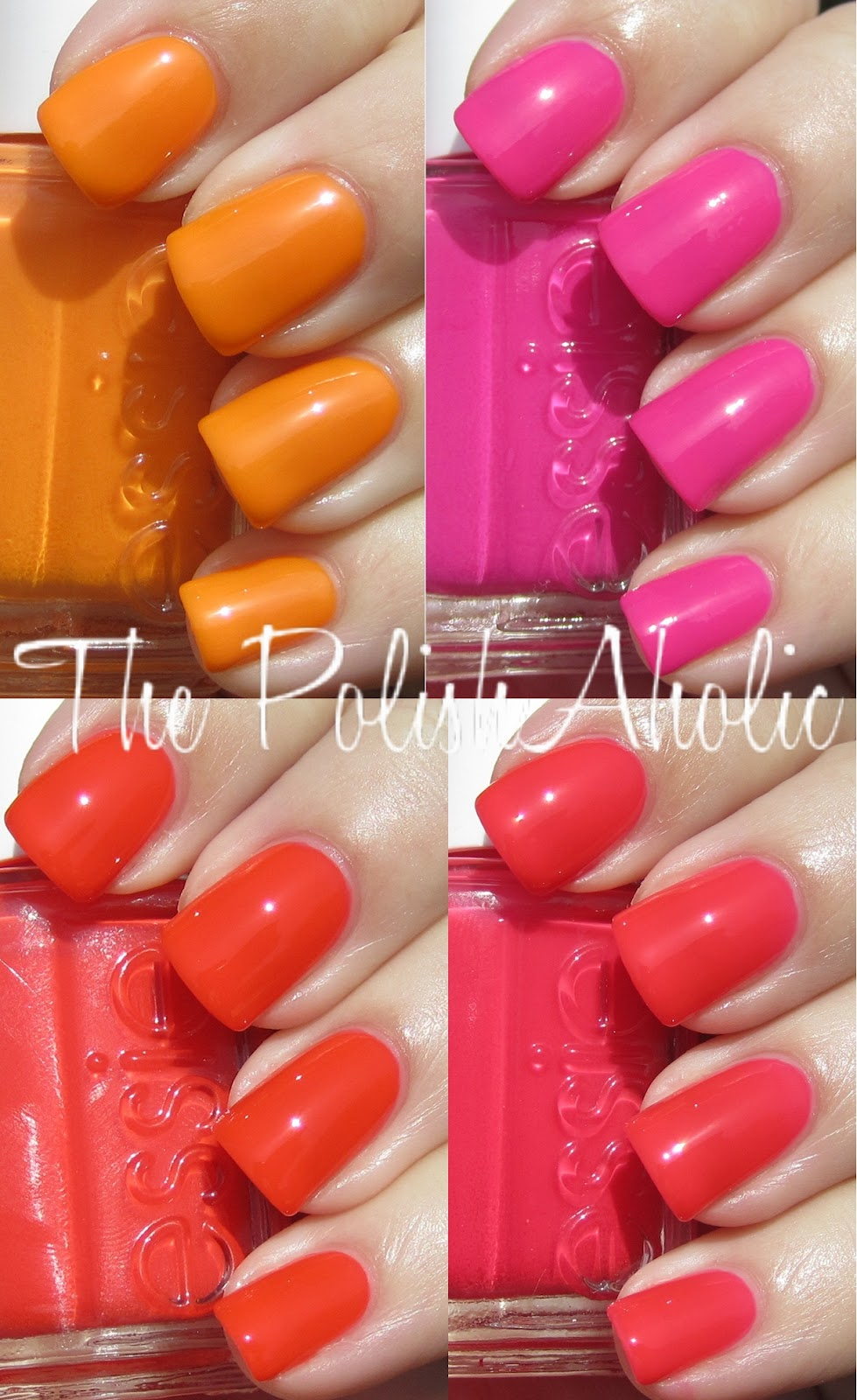 The PolishAholic: Essie Summer 2012 Poppy-Razzi Collection Swatches!