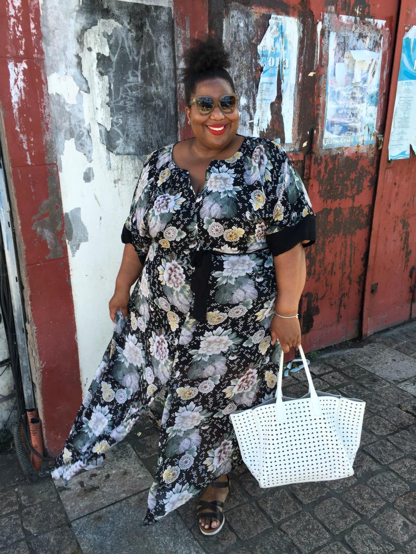 blogger maxi dress