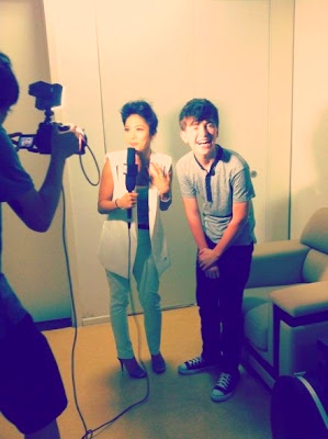 Greyson Chance doing interview in Beijing China