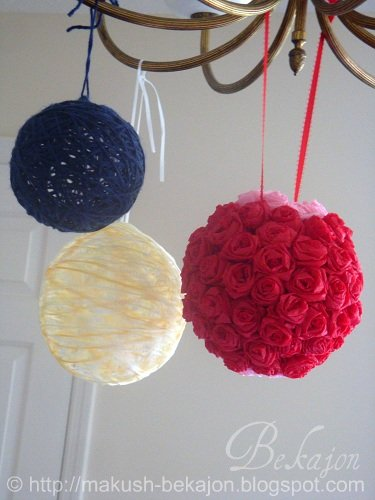 If you do not have foam balls, you can use yarn balls instead!