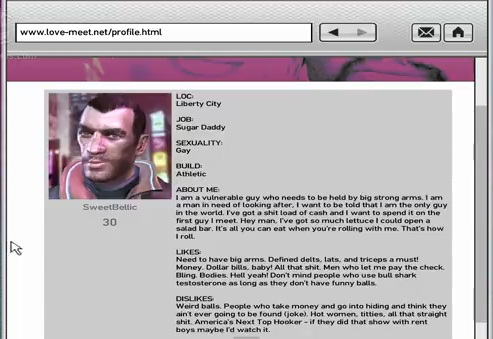 liberty city love meet Grand theft auto iv - girlfriends faq a relationship with the women of liberty city the in game internet dating site love-meetcom and.