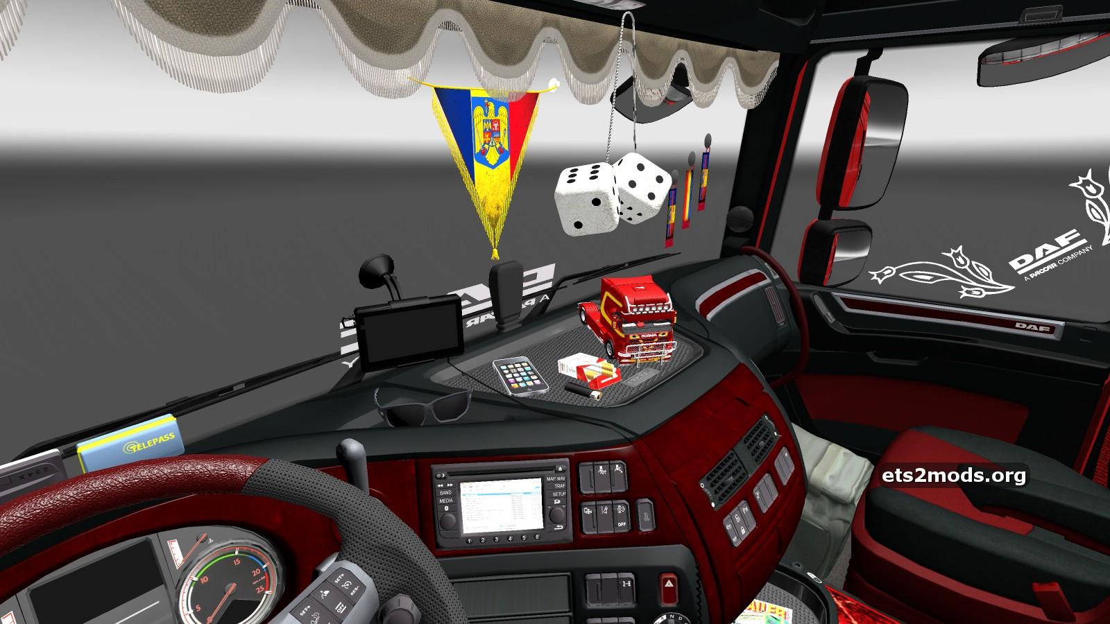 Daf euro 6 romanian interior mod ets2 mods for Daf euro 6 interieur