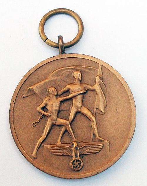 La medalla de anexión de los Sudetes