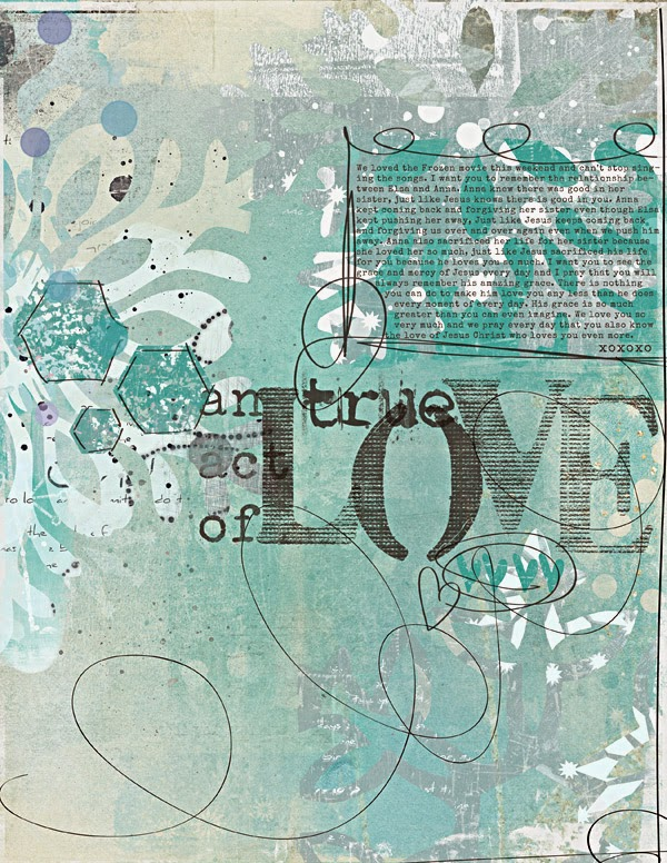 an art journal page comparing Disney's Frozen with Jesus' love for us