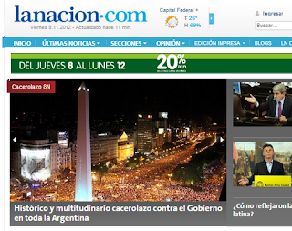 La nacion zum 8N Protest
