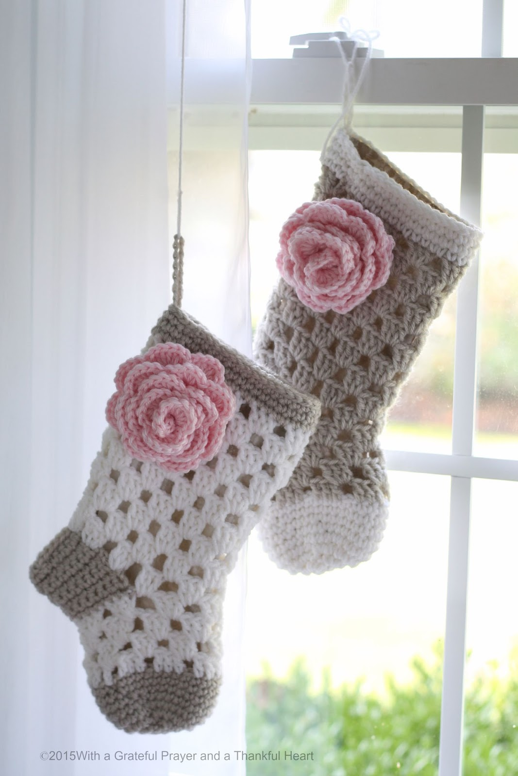 Crochet Xmas Stocking : Crochet Christmas Stocking