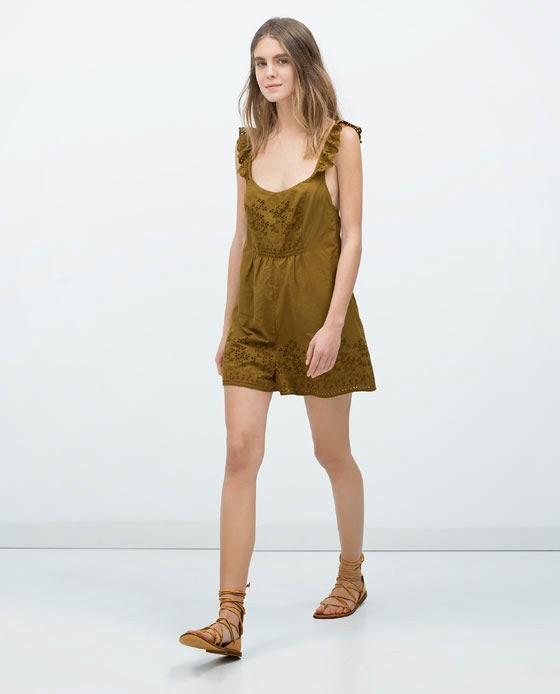 Macacão cor mostarda da Zara tendência 2015