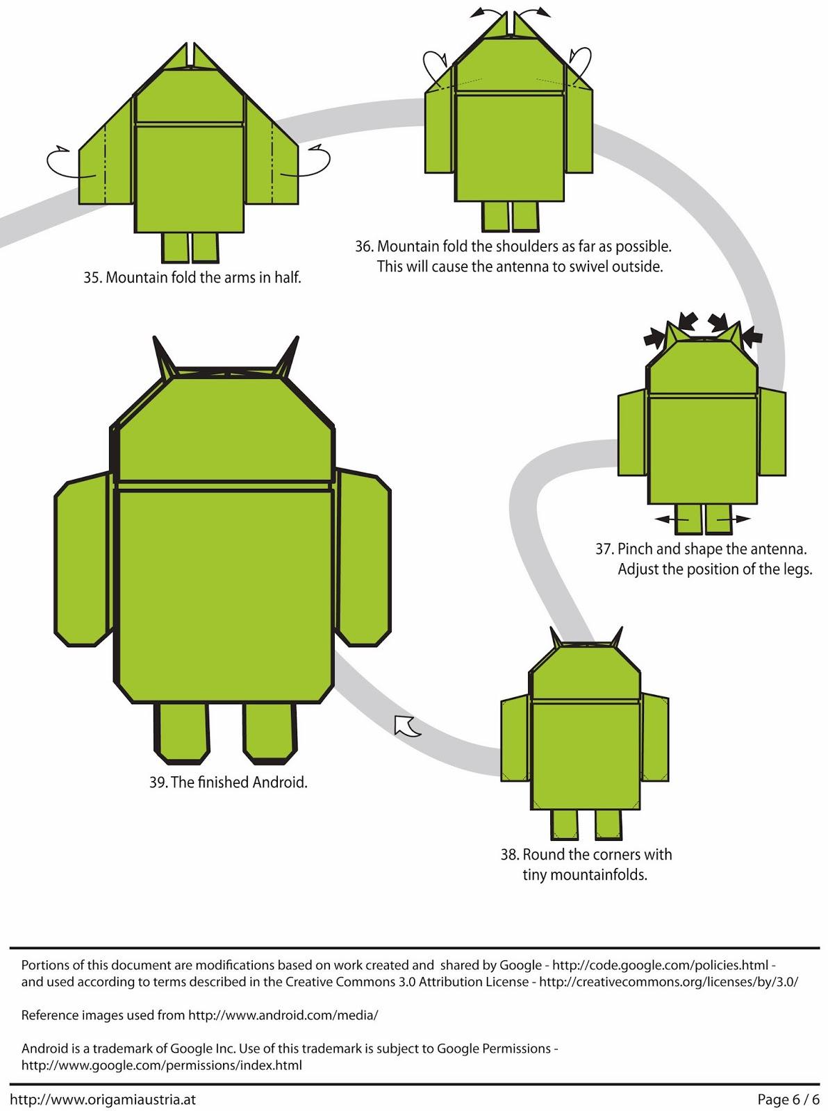 Андроид из бумаги своими руками
