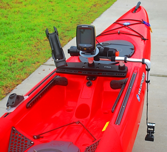 palmetto kayak fishing diy portable fishfinder for your kayak