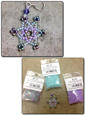 Karen Lusby's snowflake with her bead selections