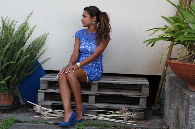 vestito pizzo blu, stylegram