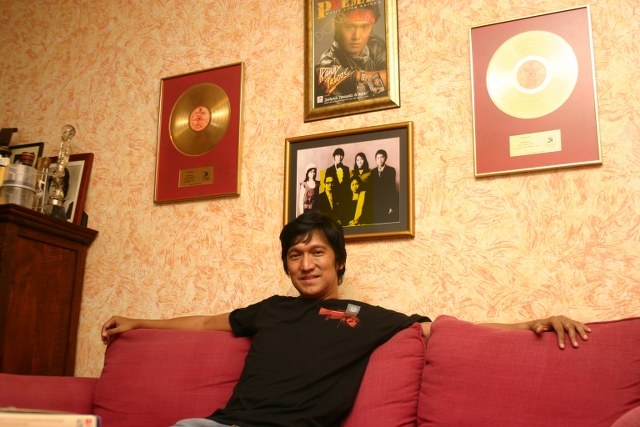 Ikang Fawzi Husband of Marissa Haque in His Music Room at Pelangi Bintaro, Tangsel, Banten