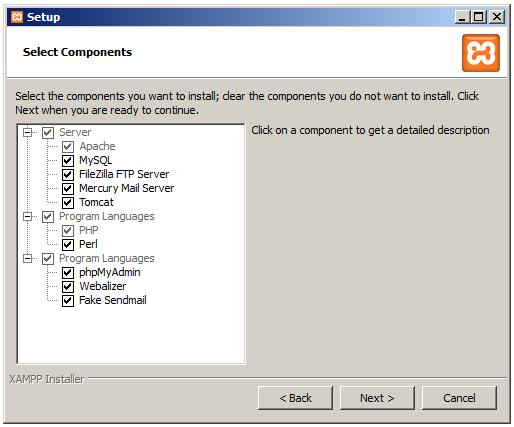 select component setup