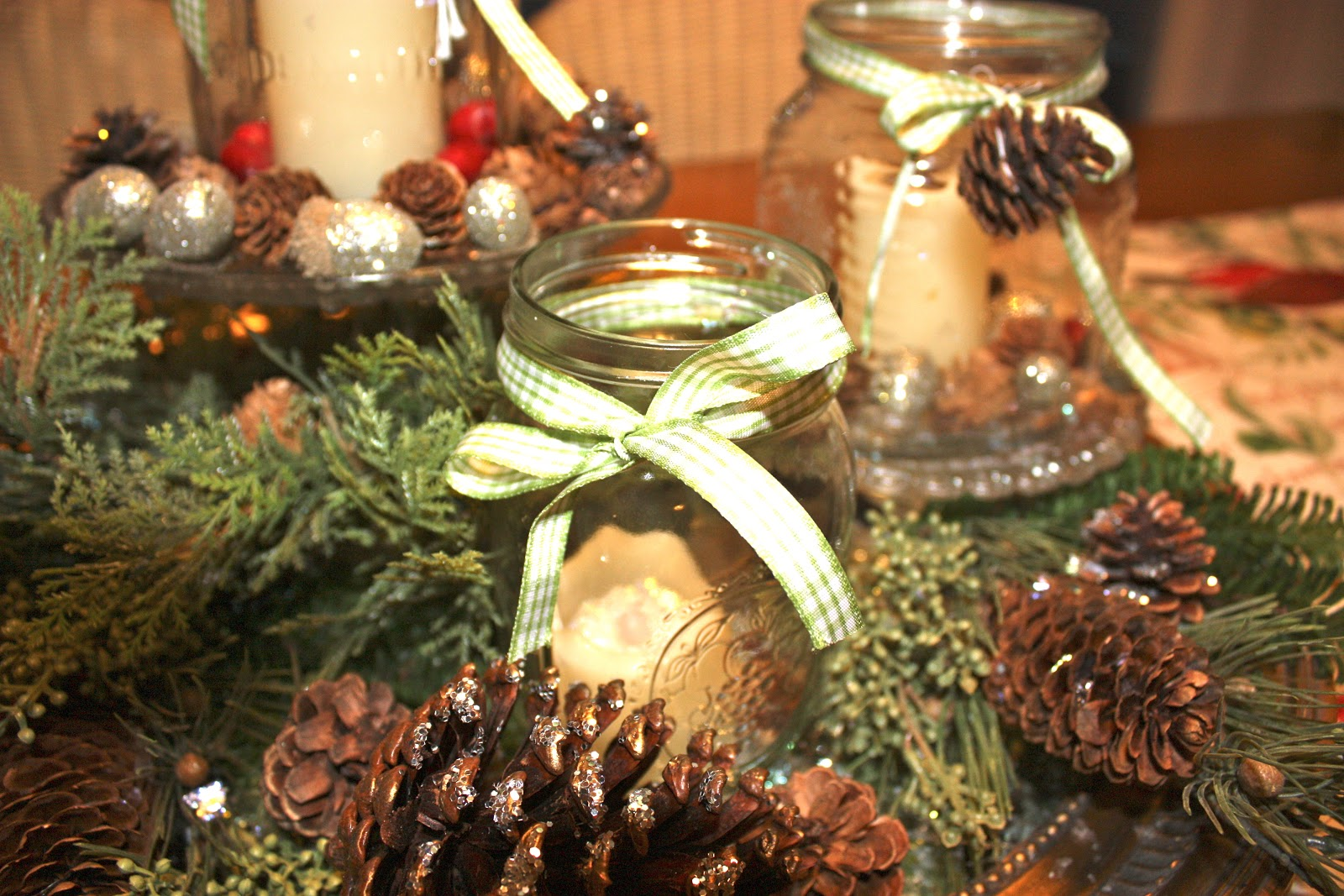 Country christmas table decoration ideas - A Country Winter Christmas Centerpiece