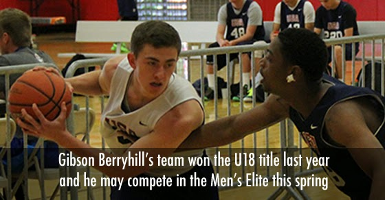Gibson Berryhill is a defending U18 champion but will he move up to try and qualify for the USA basketball 3x3 national tournaments?