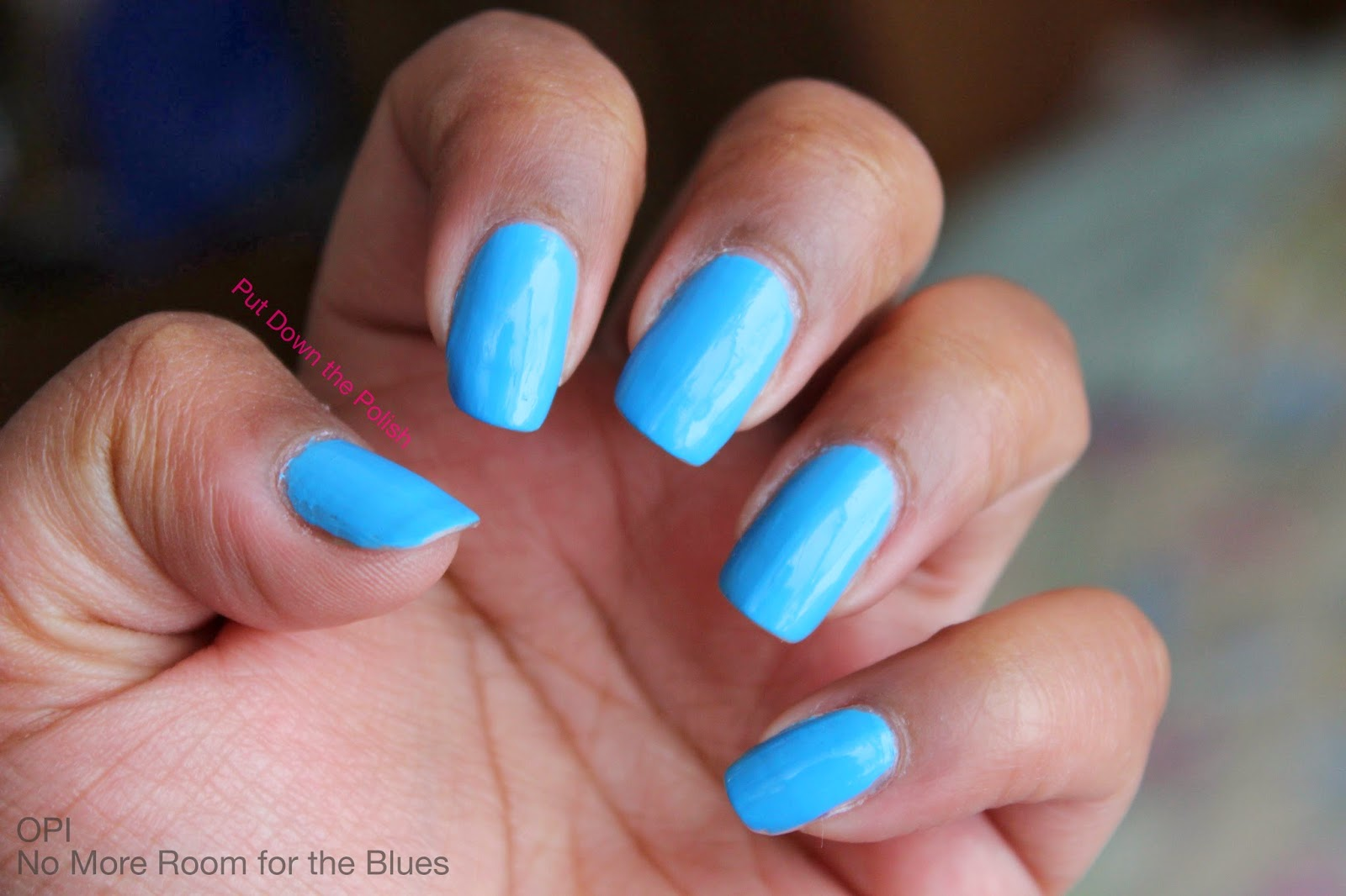 OPI No more room for the blues swatch
