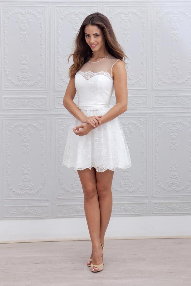 wedding dresses cold climates: Elegant Simple Short Wedding Dresses