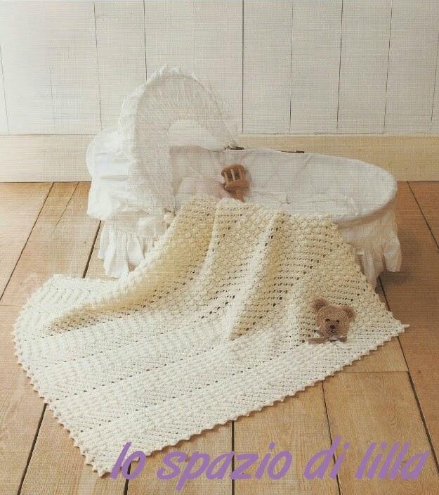 Lo spazio di lilla copertina per neonato all uncinetto quot fantasia quot