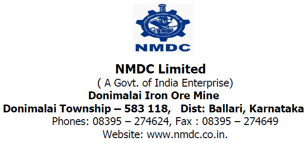 NMDC Limited Junior Officer Recruitment