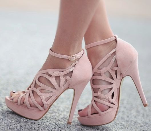 See more Blush cut out heels