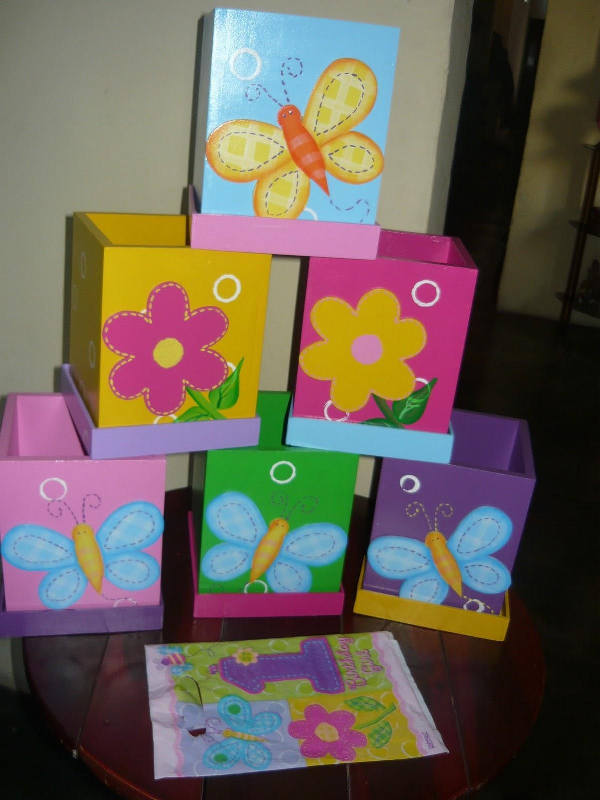Manualidades Vianey: Fiesta - Flores y Mariposas