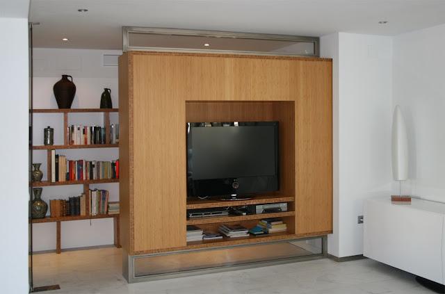 Los muebles de bamb de grupo gubia espacios en madera for Mueble salon 3 metros
