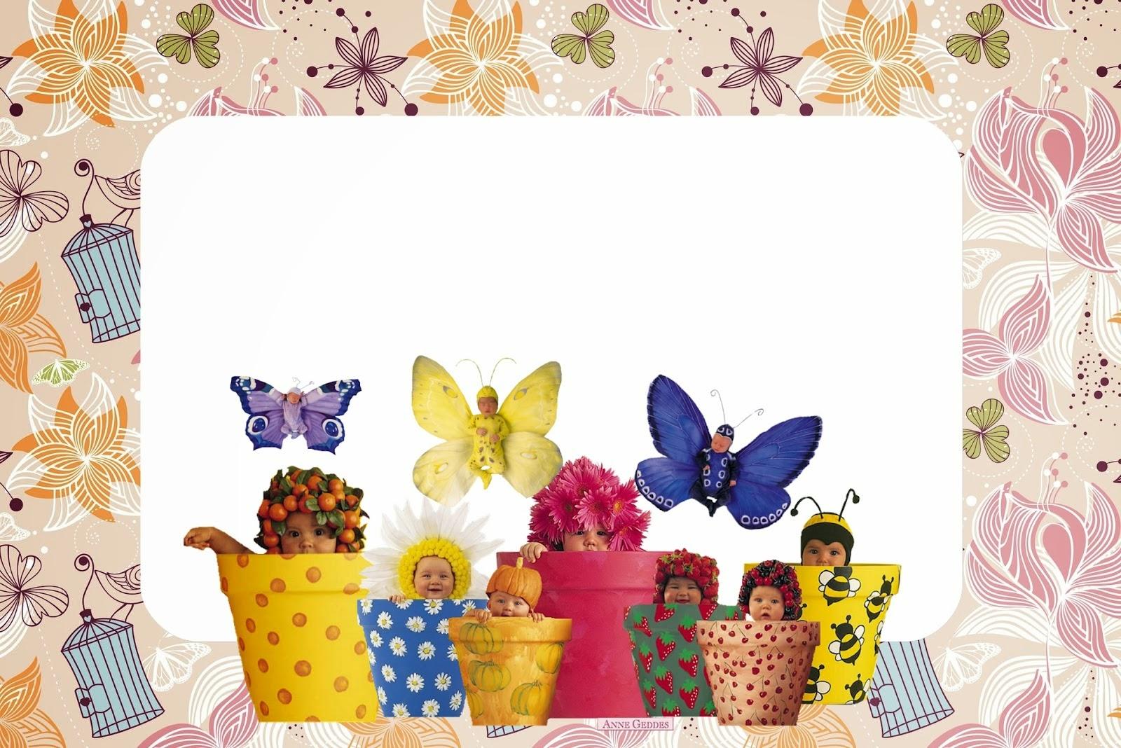 anne geddes babies free printable invitations for springtime
