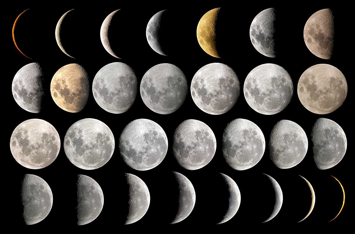 Moon Phases In Order for Pinterest