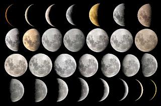 Fotos de los cambios en la fase Lunar, que se corresponden ...