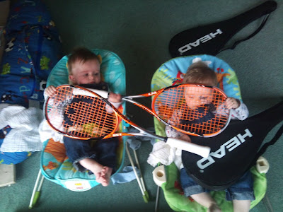 Twin boys squash players